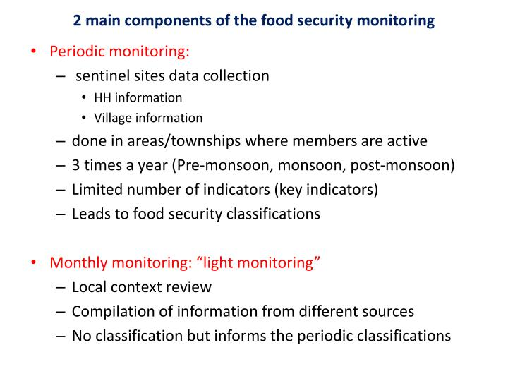 components of food security To maintain the need of food for the growing population and to meet the minimum food requirement,  5 major problems of food security in india.