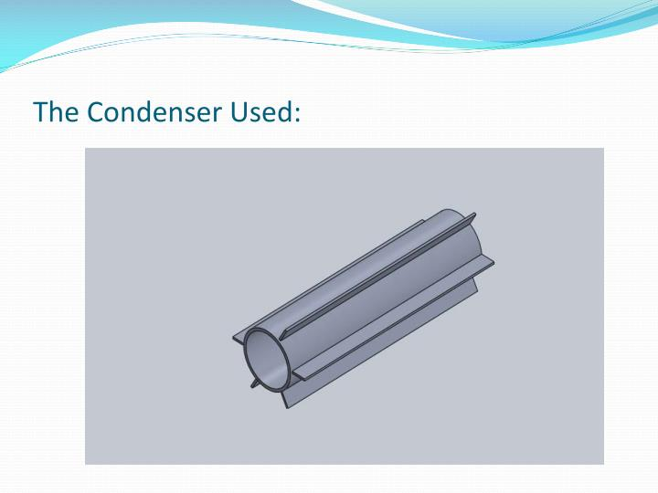 The Condenser Used: