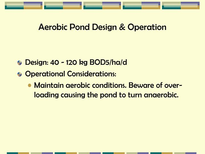 Aerobic Pond Design & Operation