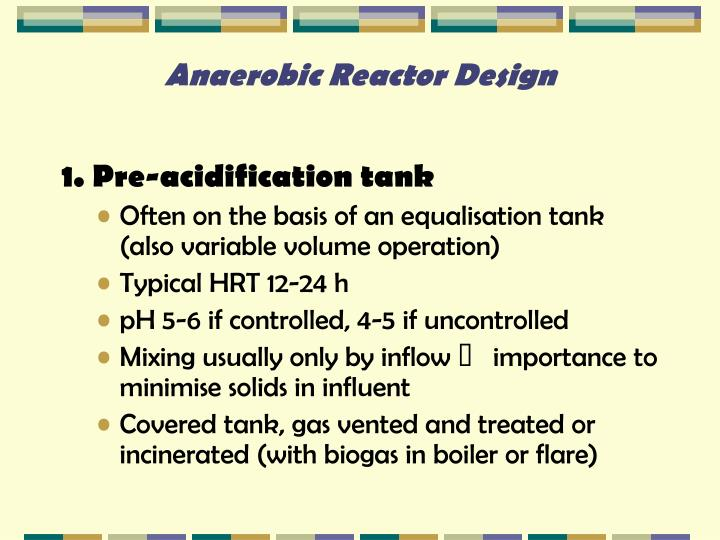 Anaerobic Reactor Design