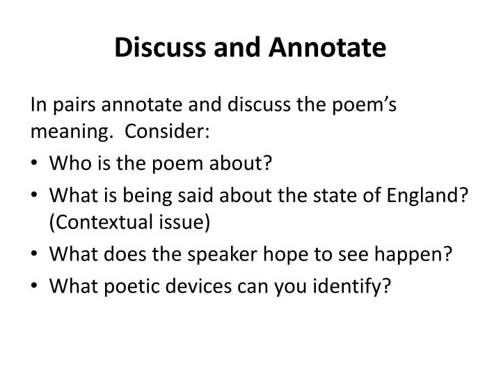 Discuss and Annotate