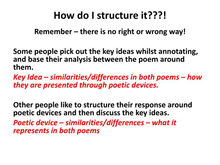 How do I structure it???!