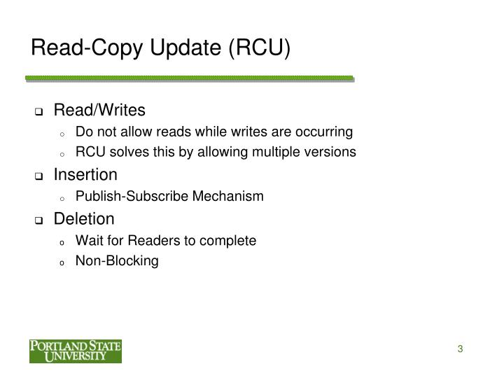 Read copy update rcu