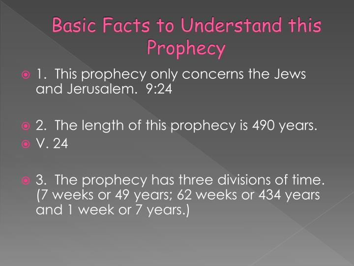 Basic Facts to Understand this Prophecy
