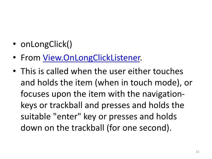 onLongClick