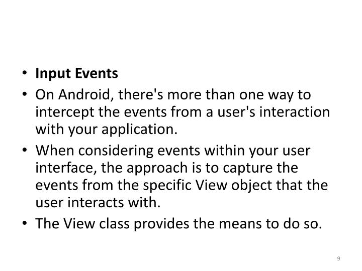 Input Events