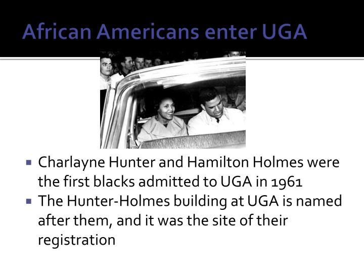 African Americans enter UGA