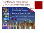 conf rence scientifique cvaa du 30 avril au 2 mai