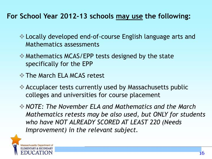 For School Year 2012-13 schools