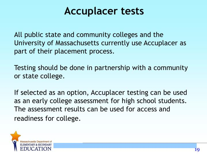 Accuplacer tests