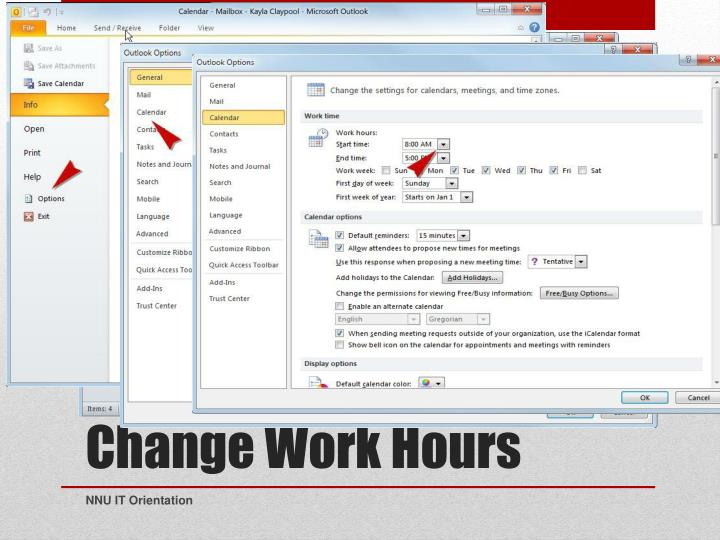Change Work Hours