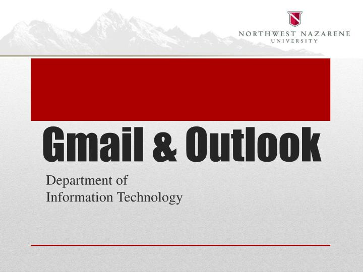 Gmail & Outlook