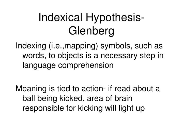 Indexical Hypothesis-Glenberg
