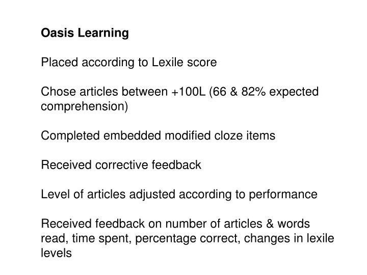 Oasis Learning