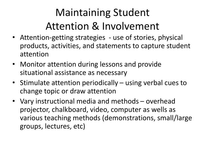Maintaining Student