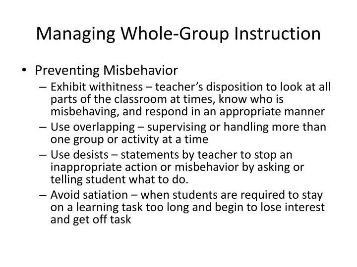 Managing Whole-Group Instruction