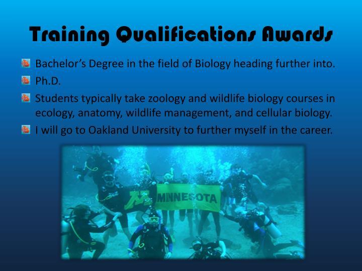 Training Qualifications Awards
