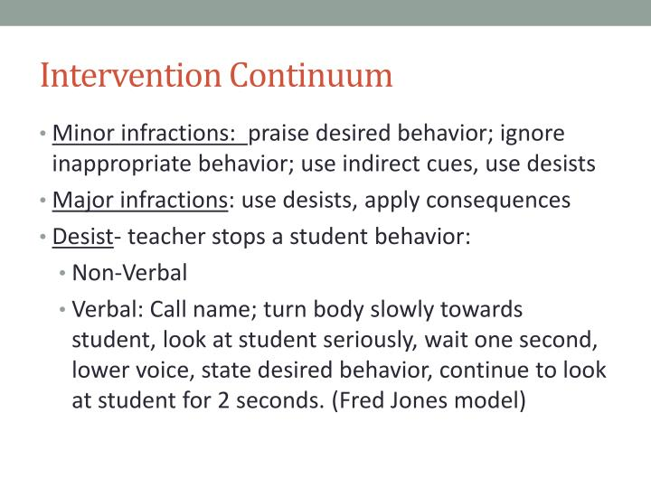 Intervention Continuum
