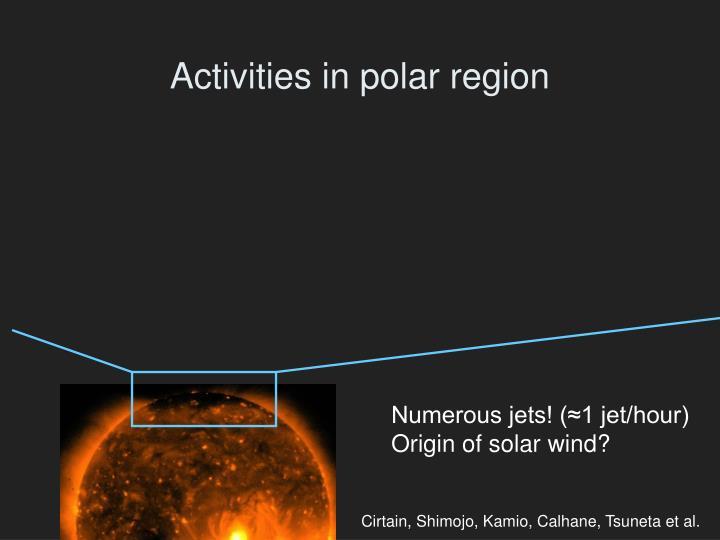Activities in polar region
