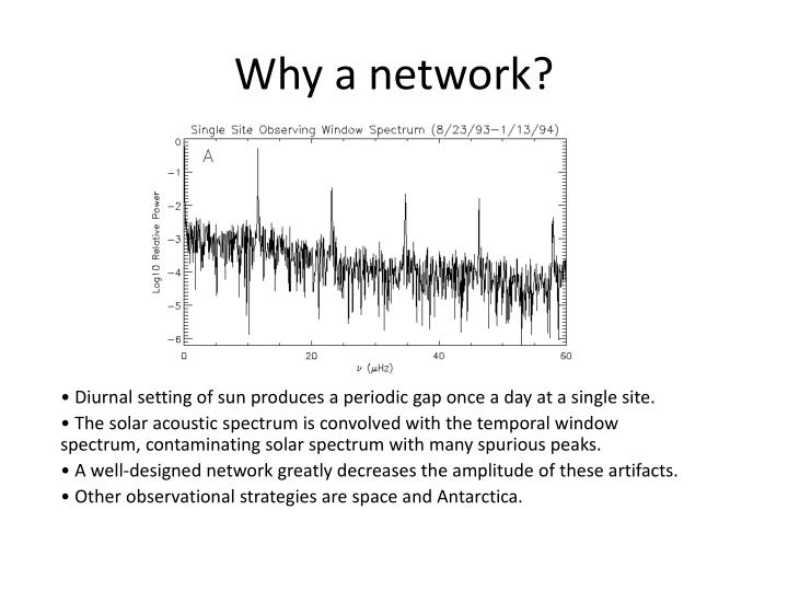 Why a network?