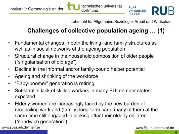 Challenges of collective population ageing … (1)