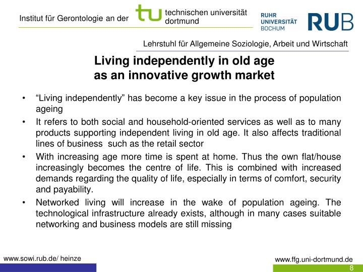 Living independently in old age