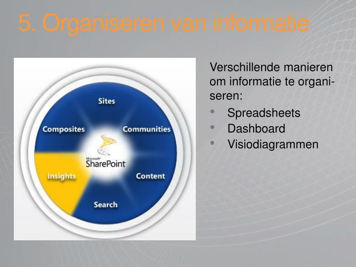 5. Organiseren van informatie