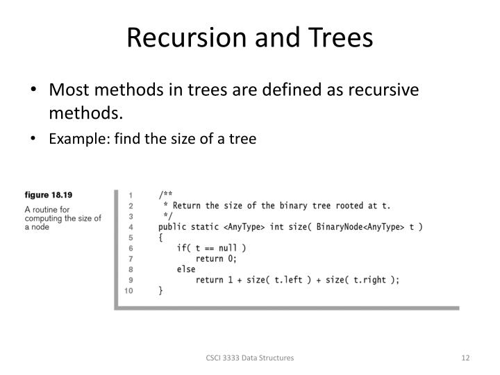Recursion and Trees