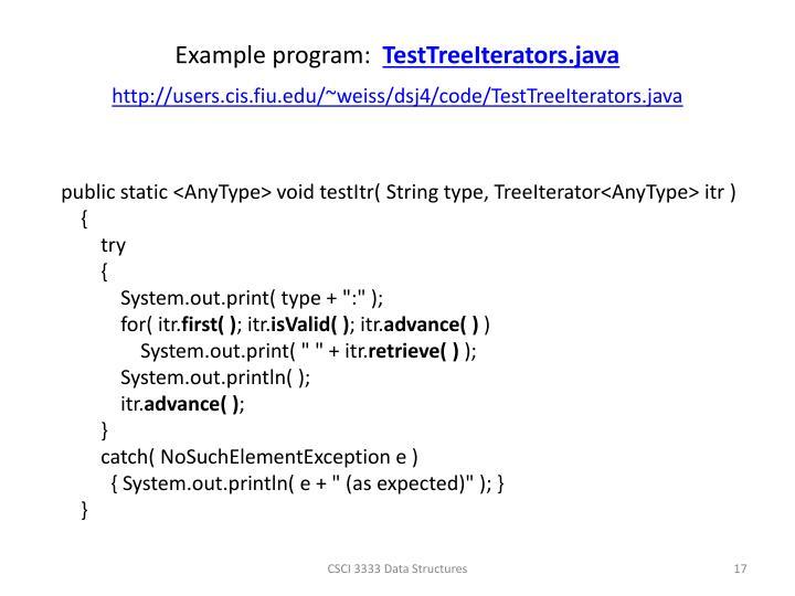 Example program: