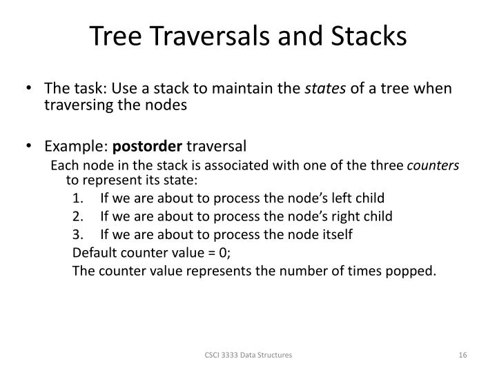 Tree Traversals and Stacks