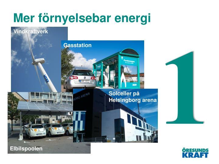 Mer förnyelsebar energi