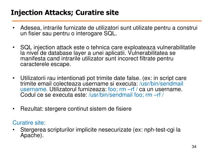 Injection Attacks;