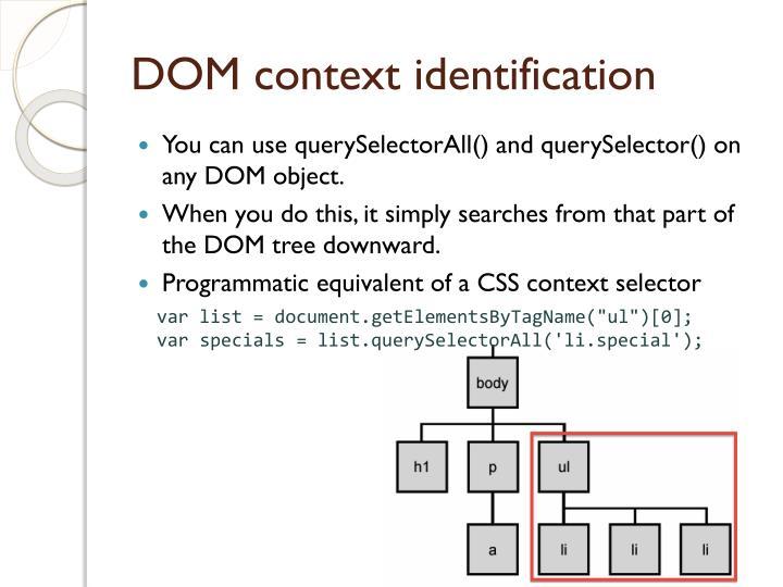 DOM context