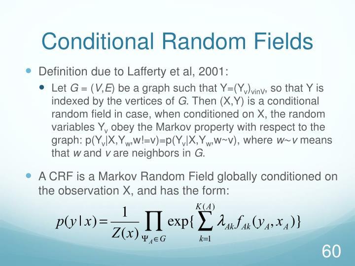 Conditional Random Fields