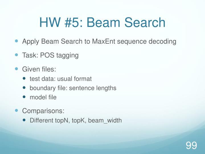 HW #5: Beam Search