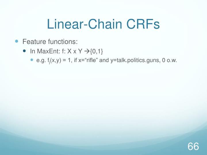 Linear-Chain CRFs