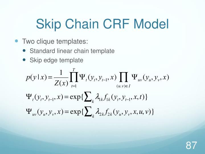 Skip Chain CRF Model