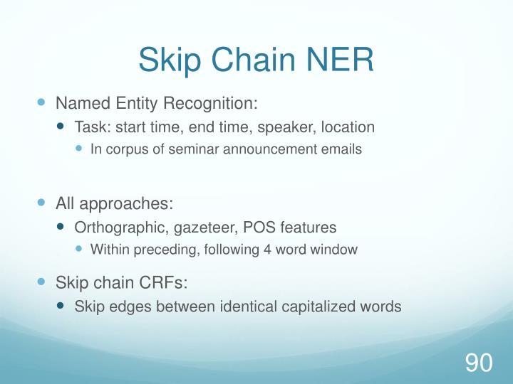 Skip Chain NER