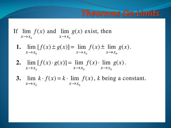 Theorems On Limits
