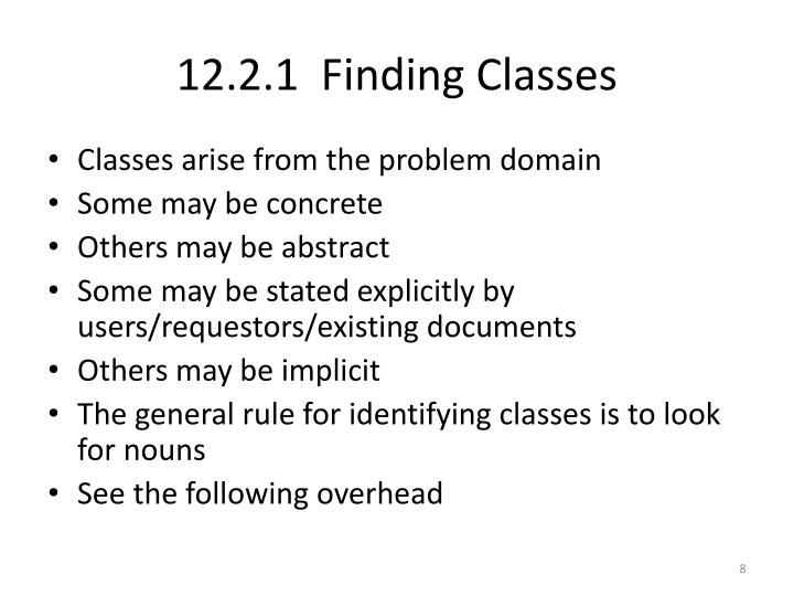 12.2.1  Finding Classes