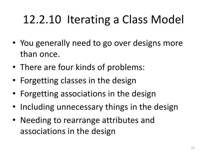 12.2.10  Iterating a Class Model