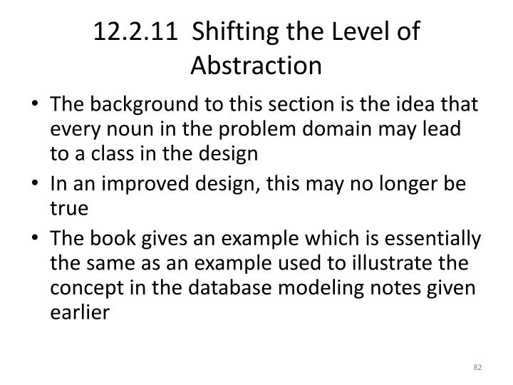 12.2.11  Shifting the Level of Abstraction