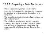 12 2 3 preparing a data dictionary