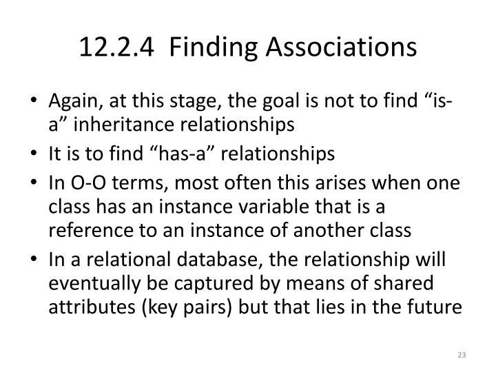 12.2.4  Finding Associations