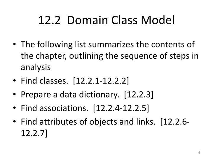 12.2  Domain Class Model