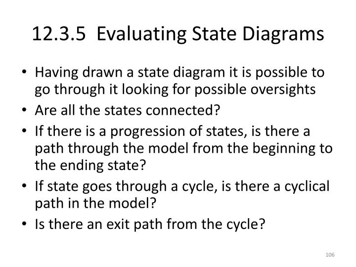 12.3.5  Evaluating State Diagrams