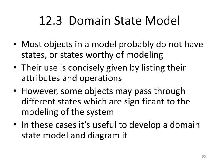12.3  Domain State Model
