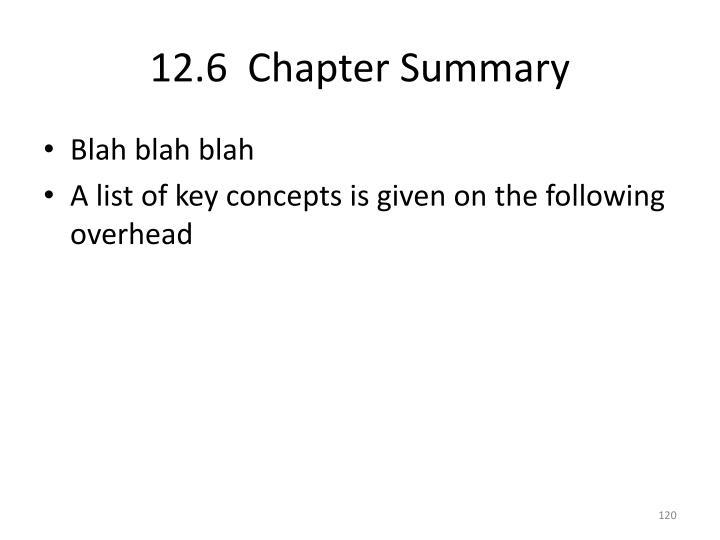 12.6  Chapter Summary