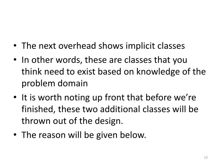 The next overhead shows implicit classes