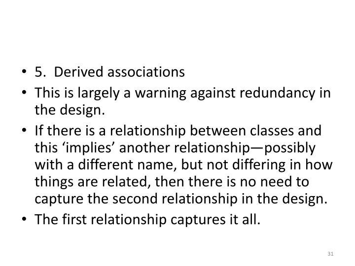5.  Derived associations